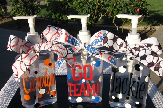 Personalized Hand Sanitizer - Teacher Gift - Teens/Tweens - Cheerleader - Soccer Player - Baseball Play - Coach - Sports - Gifts