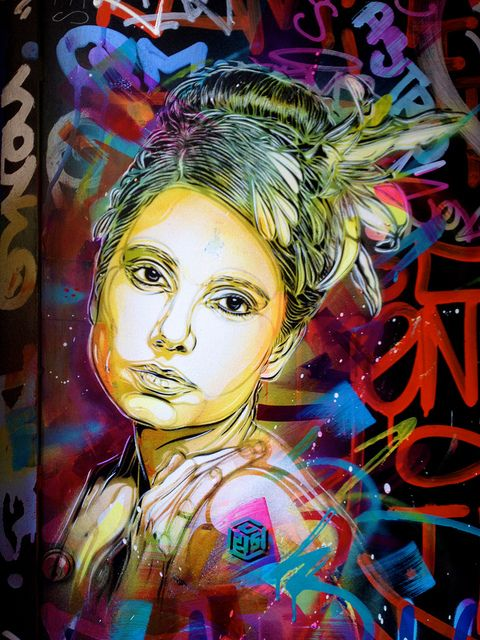 Street art by C215, via Flickr #graffiti #street #art