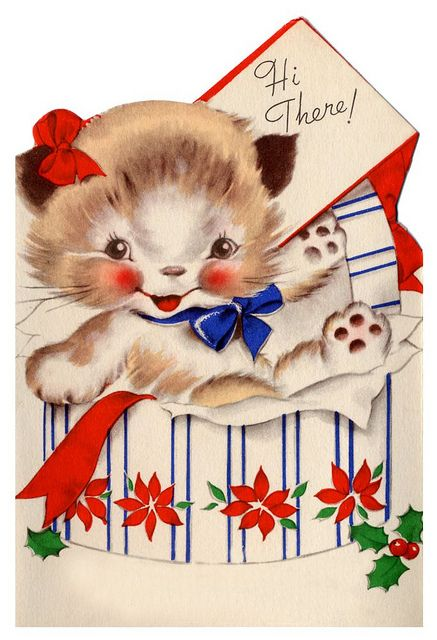 Hi there! #cute #vintage #Christmas #cards