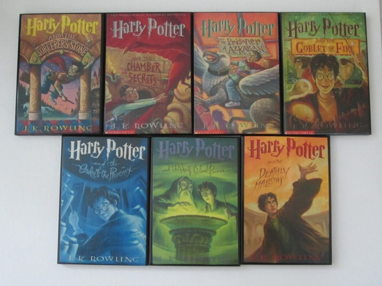 Full Set of Harry Potter Book Cover Coasters - Great Gift for the Harry Potter Fans. $19.95, via Etsy.
