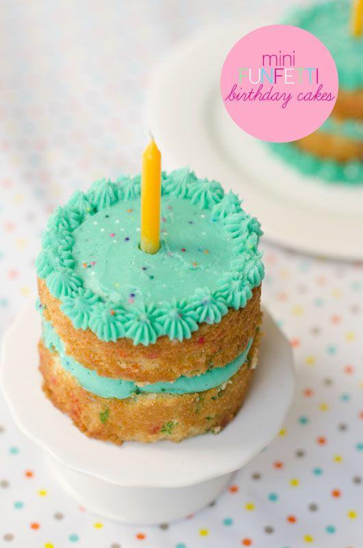 A unique recipe for Mini Funfetti Birthday Cakes