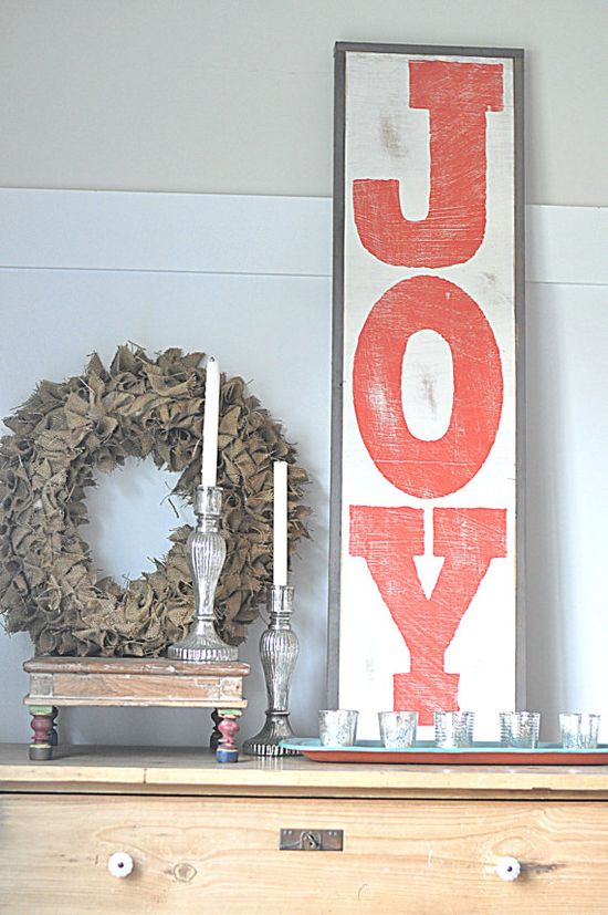 JOY Sign by BetweenYouAndMeSigns on Etsy, $125.00