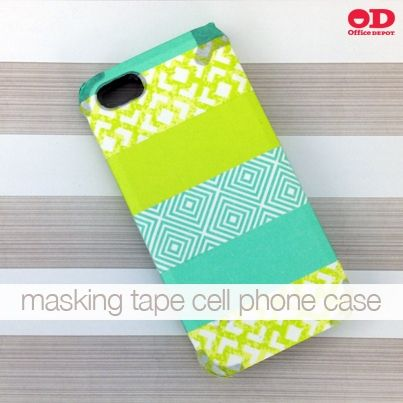 Phone case collections quatrefoil rainbow pattern vibe for Washi tape phone case