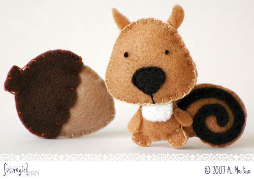 Cute stuffed felt animals