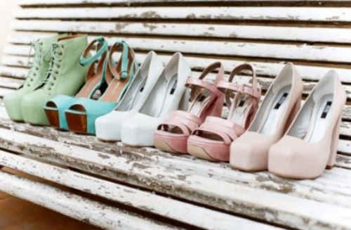 I want pretty shoes.
