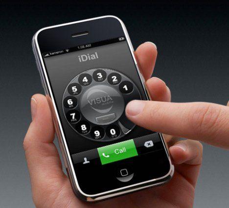 iPhone retro dial mobile app