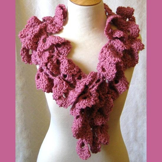 Crochet Rose Petal Scarf Wrap #Spring #Crochet