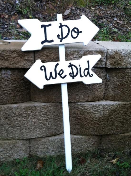 Wedding Outdoor Sign. $65.00, via Etsy.