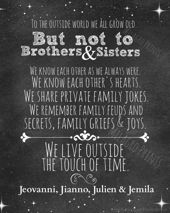 16 x 20 Chalkboard sibling quote PERSONALIZED by MilagroPrints, $5.00