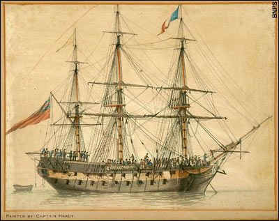 The painting of a warship in Nelson's navy is the only known work by Captain