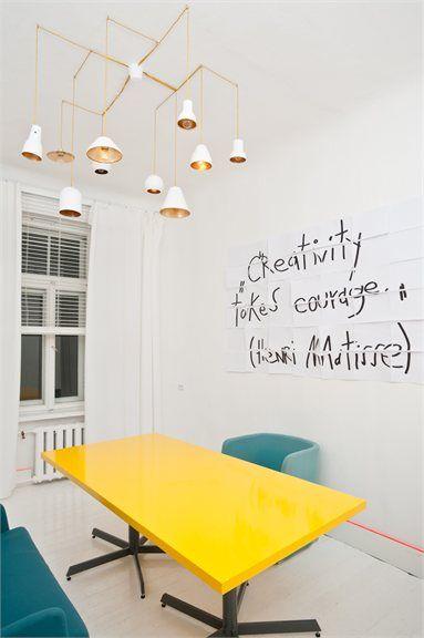 "Annvil`s interior design office - Riga, Latvia - 2012: ""Creativity takes courage"" Henri Matisse"