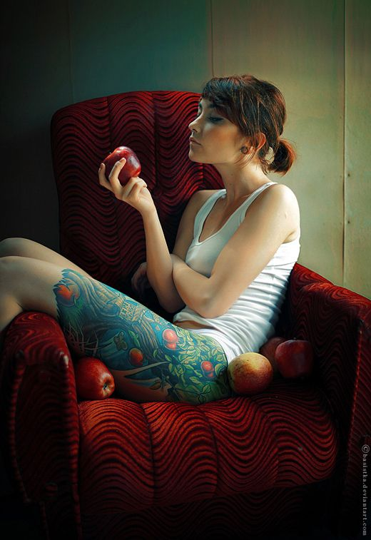 tattoos and apples!