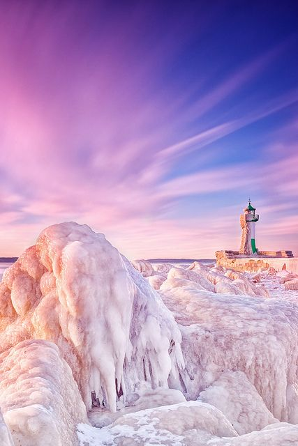 Icy Lighthouse, Rügen, Germany