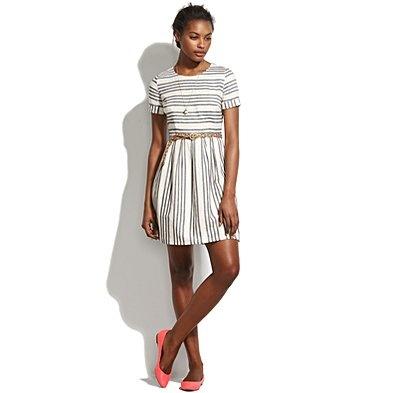 madewell sleeved stripe dress.