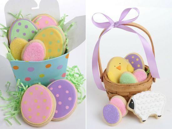 Easter Cookies    http://glorioustreats.blogspot.com/2011/04/polka-dot-easter-egg-cookies.html