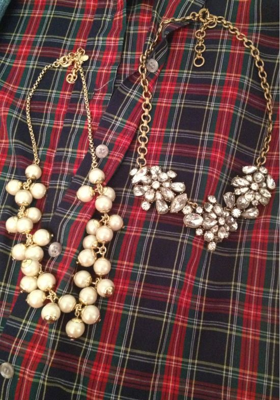 Your flannels paired with a statement necklace