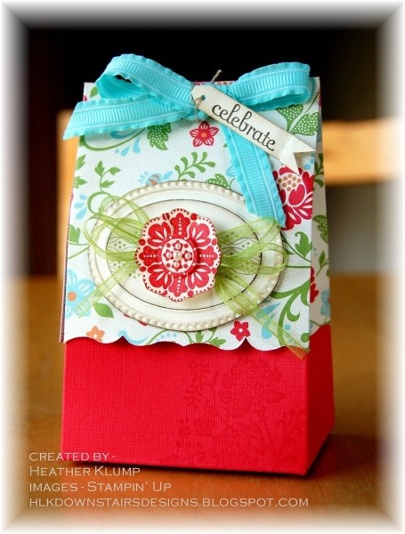 Stampin Up Fresh Vintage little bag