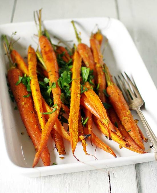 Roasted carrots with homemade mustard