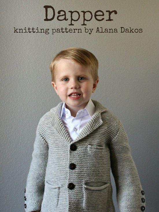 Pdf knitting pattern for Garter Stitch Jacket for boys by Never Not Knitting