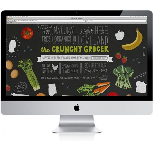 crunchy grocer - #Whole #Foods like #Typography inspired #website - #Web Design