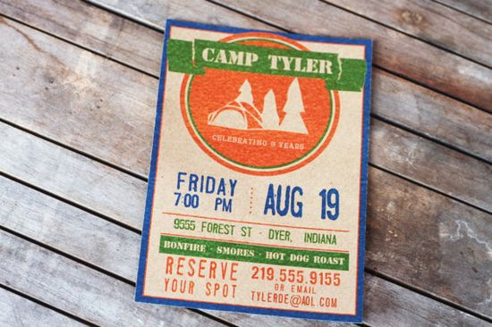 Camp Party Invitation