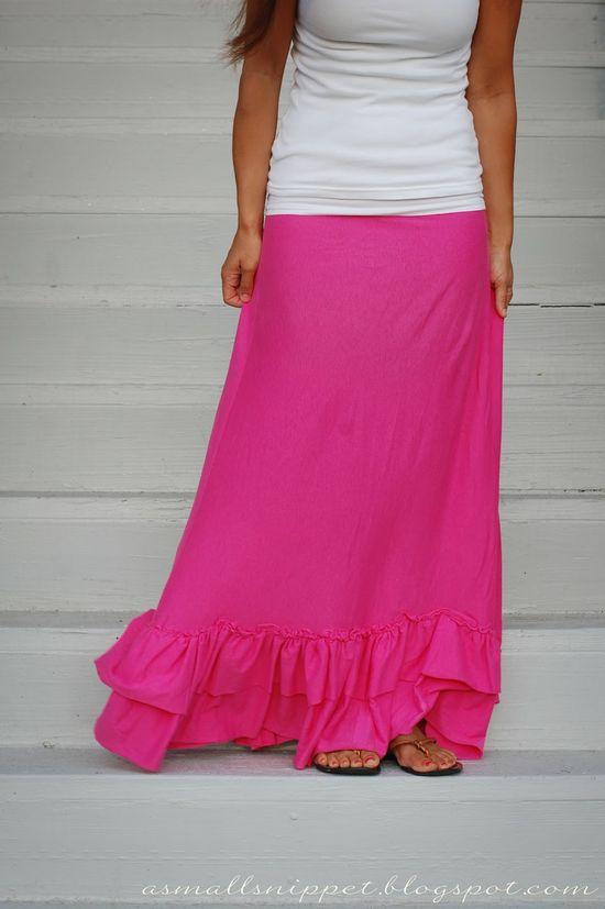 Sheet to Maxi Skirt