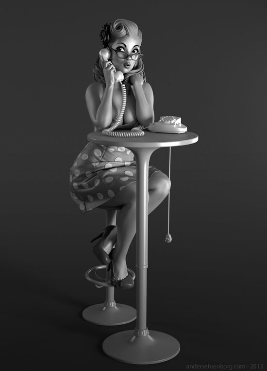 CGHUB Forum - View Single Post - CharacterFORGE 3D :: ROUND 022 :: PIN UP GIRL :: FINALS !