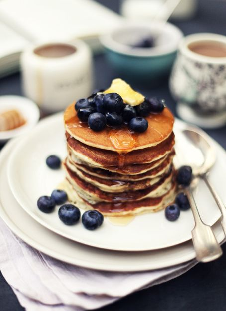 i love blueberries and i love pancakes and i love blueberry pancakes!