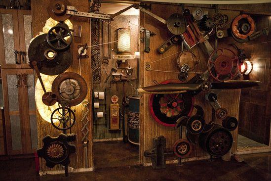 #Steampunk decor idea