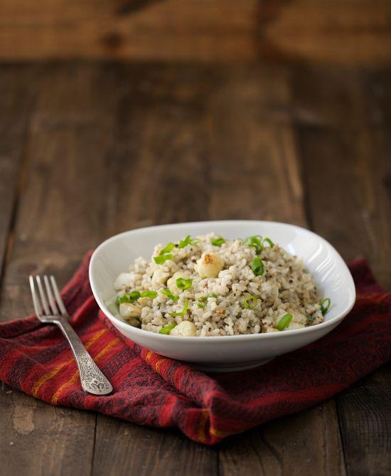 creamy gorgonzola rice & roasted cauliflower