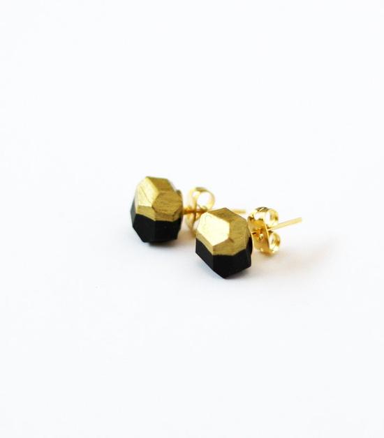 black gold dipped earrings - AMM.