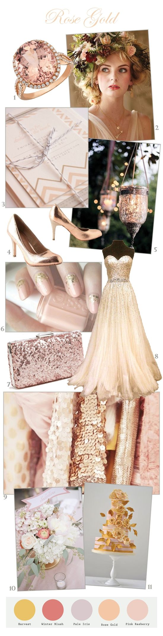 rose gold wedding color inspiration