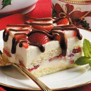 White Chocolate Strawberry Tiramisu Oh yes please!