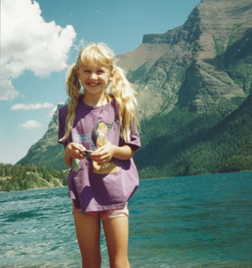 Sporting blonde pigtails and a #Pocahontas purple tee, Miss Montana USA Kacie West joyously smiles with the beautiful mountains in the background. Repin if you love her scenic view from home!