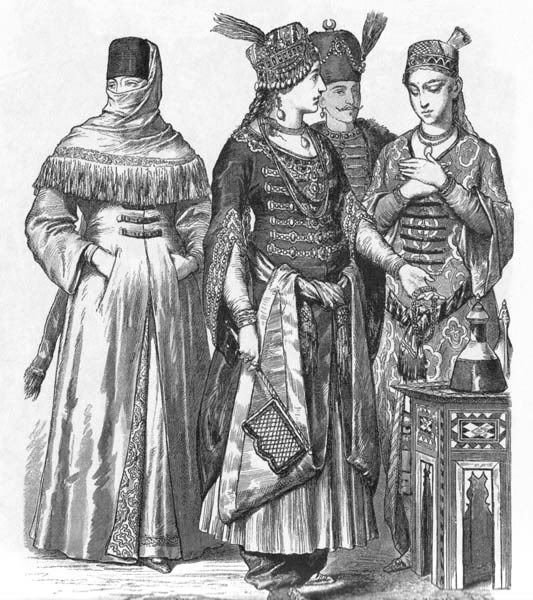 SCA NOT! 18, 19, & 20 c. art & clothing mislabeled as SCA-period Ottoman or Persian