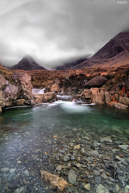 Fairy Pools, Isle of Skye, Scotland~great place!i hope i can travel here~ :-)