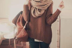 #fall #fashion #2013 #chunky #scarfs and #sweaters