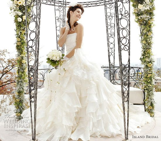 Island Bridal White Wedding Dresses Collection