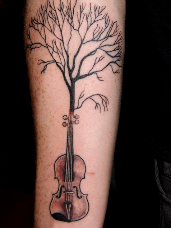 """""""I made this a drawing a long time ago, I've played the viola for 10 years"""