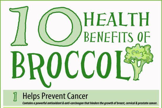 Infographic: 10 Health Benefits of Broccoli  - foodista.com