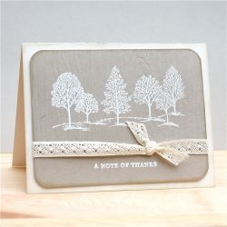 A soft and pretty handmade thank you card.