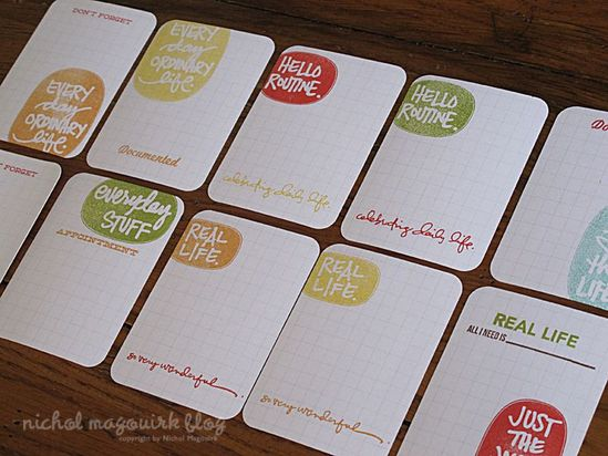 Stamp Your Own Journal Cards