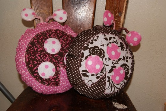 Ladybug Toy Stuffed Pillows   Baby Shower
