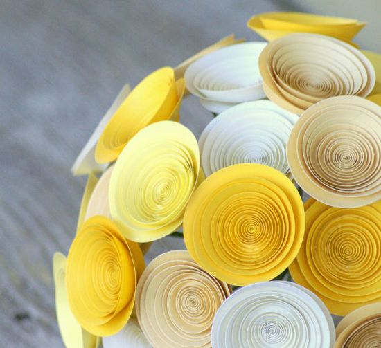 handmade paper flower bouqets- clever!