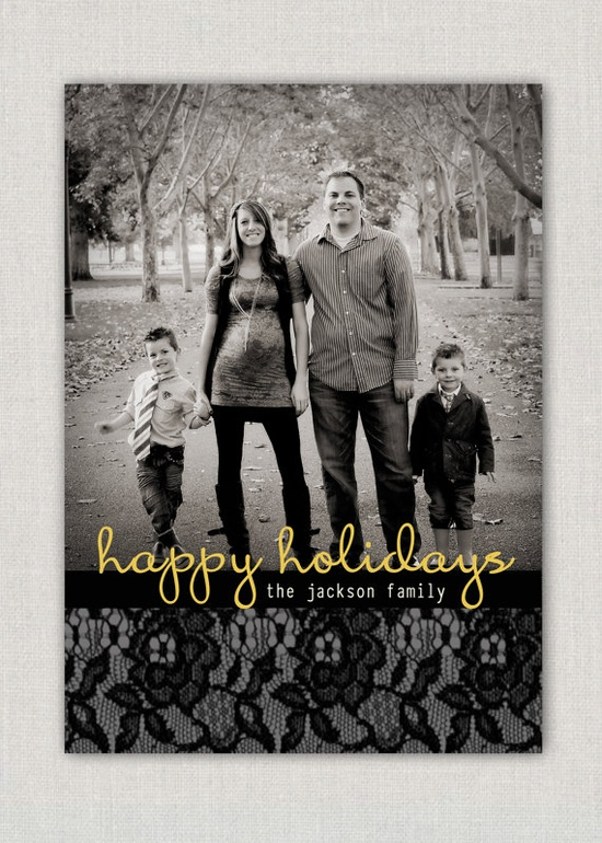 Lace Christmas Card