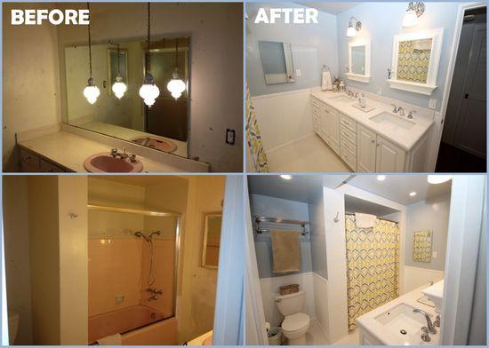 remodel bathroom before/after