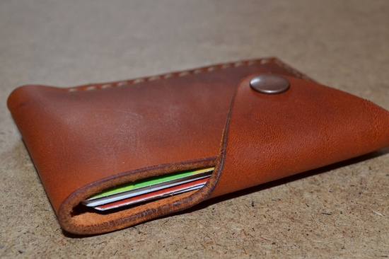 Leather Wallet-Men Wallet-Leather Card Holder Leather-Handmade Red brown. $28.00, via Etsy.