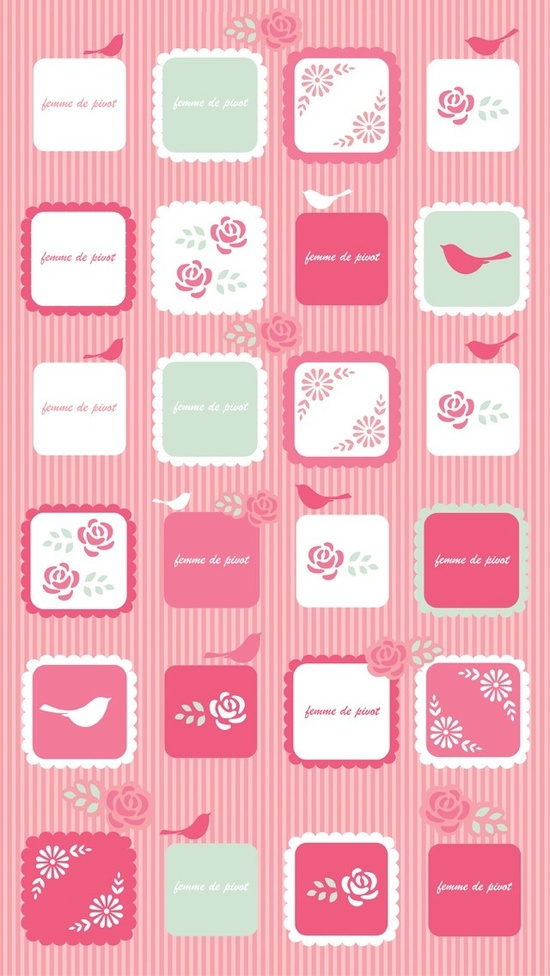 IPHONE 5 | pink icons wallpaper
