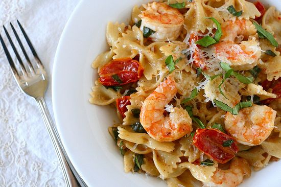 Shrimp Pasta With Oven Dried Tomatos #pasta #food #healthy