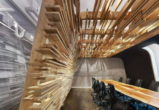 Very cool office space design. @Sarah Chintomby Chintomby Therese Bull Toronto, Johnson Chou
